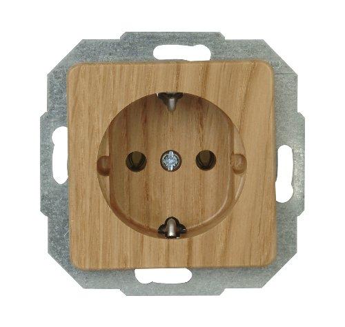 Eiche Natur Holz (Kopp 914830089 Milano Eiche-Natur Schutzkontakt-Steckdose)