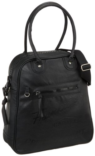 Frankies Garage Ladies Bag B20981010-010, Borse A Spalla Da Donna 38x43x14 Cm (nero) X Nero (nero 010)