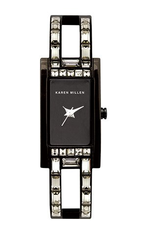 Karen Millen Ladies Crystal Set Bangle Watch
