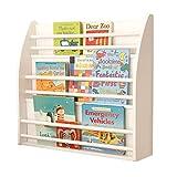 Bücherregale Bücherregal Für Kinder Wandbehang Bücherregal Weißes Bücherregal Kindergarten Bücherregal Zeitschriftenständer Lagerregal (Color : Weiß, Size : 70x17x67cm)