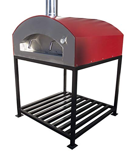 Mister Ovens Outdoor Wood Fired Oven Napoli (Red)