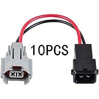 H2Racing 10Pcs de inyección de combustible Adapter Connector Denso Female to EV1 Male Fuel Injector