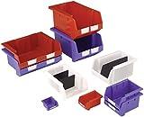 Signs & Labels fwar11580x 109x 172mm pila y nido Cajas de almacenamiento-rojo (20piezas)