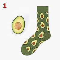 FHCGWZ 5 Teile/Satz Unisex Mode Hohe Strumpfwaren Socke Frauen 3D Fruit Happy Sock Crew Socke Männer Lustige Kunst Baumwolle Weiche Socken