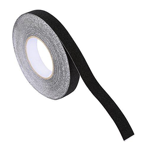 Nastro Adesivo Antiscivolo, Nastro Adesivo di Sicurezza Nero PVC PET Per Scale Battistrada Gradini Scale a Pioli Rampe Ponteggi Autobus