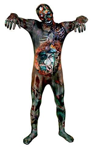 loween Kostüm - Untoter Zombie Aufdruck hautanzug - Herren Damen erhältlich in 5 Größen - Klein - mittelgroß - groß - XL - XXL - XXLARGE ()