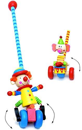 """1 Stück _ Schiebefigur - """" Watschel """" - wie echte Bewegung ! - bewegliches Schiebetier / Figur aus Holz - Watscheltier - Clown & Tiere - lustige Clowns - Ziehtier Ziehfigur Laufrad Watscheltier - Schiebelaufrad - Laufen lernen - Kinder - Holzschiebetier"""
