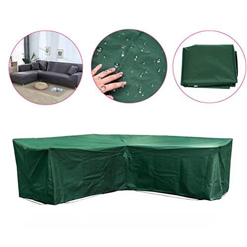 EgBert Garten Outdoor Möbelecke Rattan L Form Slipcover Waterproof Sofa Sectional Cover -