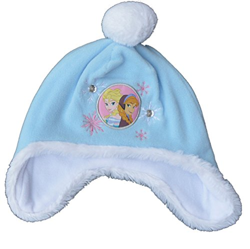 Disney Girls Frozen Elsa Anna Winter Bobble Hat