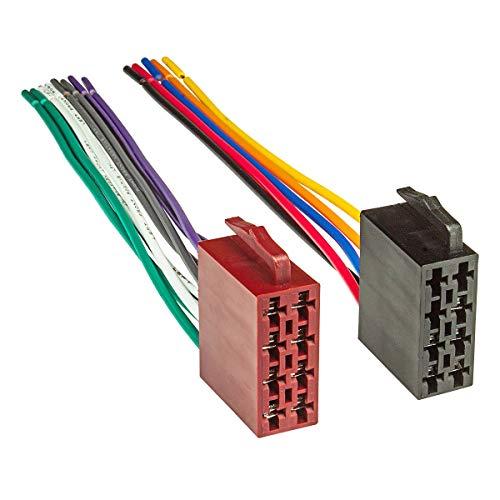 tomzz Audio 7000-004 KFZ ISO Auto Radio Stecker Set auf offene lose Kabelenden Strom + 4 Lautsprecher
