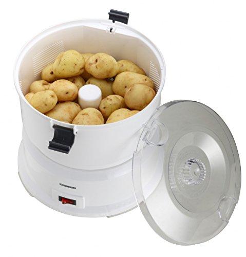 Melissa Kartoffelschälmaschine 16220006 Elektrischer Kartoffel-Schäler mit Salat-Schleuder