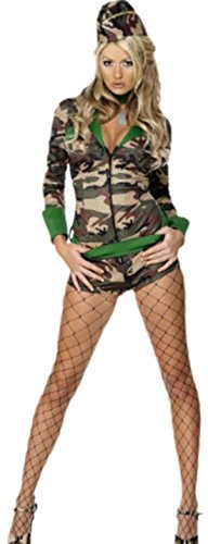 erdbeerloft - Damen Militär Kostüm, Karneval, Fasching, S, Mehrfarbig