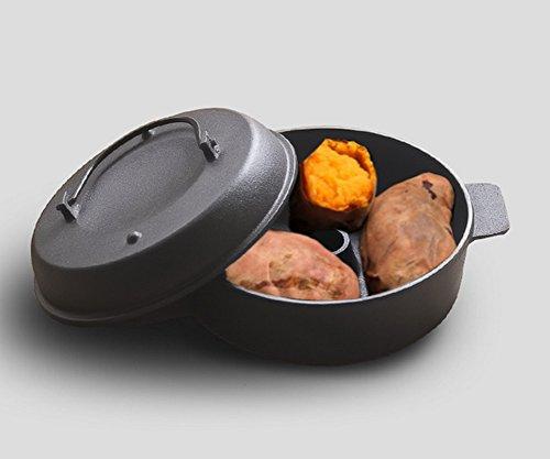 JIAJU Haus geröstete Süßkartoffel Pot geröstete Süßkartoffel Yam Mais Kartoffel gerösteten Topf verdicken Multifunktions Gas Cast Iron Backform, 22 cm