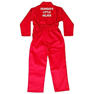 Acce Products Grandad's Little Helper Baby, Childrens, Kids, Coverall, Boilersuit, Overall - Size - 20-1-2 Years - Red