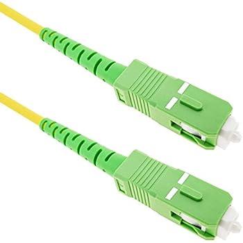 Cablematic - Cble á fibre optique SC/APC á SC/APC simplex monomodes 9/125 5 m
