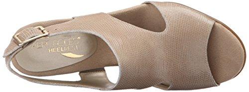 Aerosoles Honey Blossom Leder Keilabsätze Sandale Bone Snake