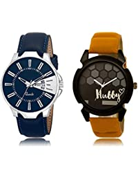 The Shopoholic Blue Black Combo Best Combo Pack Blue And Black Dial Analog Watch For Boys Stylish Watch