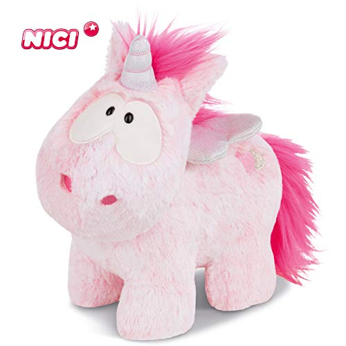 NICI Kuscheltier Einhorn Pink Harmony 22 cm - Einhorn Plüschtier für Jungen, Mädchen & Babys - Flauschiges Stofftier zum Kuscheln & Spielen - Flauschiges Schmusetier für jedes Alter geeignet - 44364
