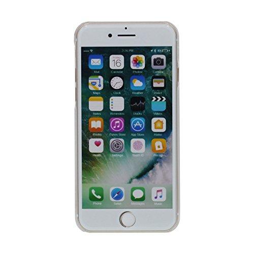"""Poids Léger Clair Coque pour Apple iPhone 7 Plus 5.5"""", écoulement Étoiles colorées Liquide Eau Style Transparente Dur iPhone 7 Plus Case Original Intéressant Motif - plumage rouge Color-5"""