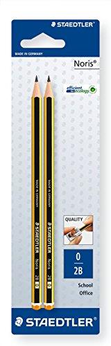 Staedtler 120-0 BK2D Bleistift Noris 2B, 2 Stück
