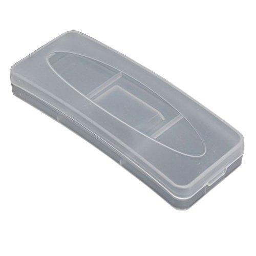 2pcs Plastique Transparent Clip sur lunettes Box