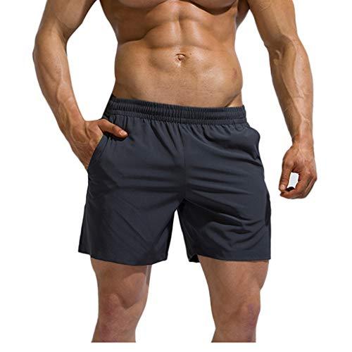 Retro Turnhose (FRAUIT Herren Patchwork Sporthose Kurz Fitnessstudio Bodybuilding Turnhose Baumwolle Laufshorts Schnelle Trockene Strand-Hosen Brandungs-Hosen)