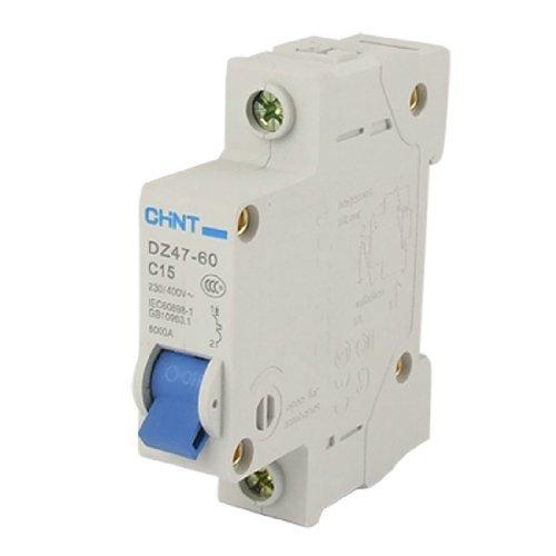 15 Amp Single Pole (DealMux DZ47-60 C15 Single Pole MCB Mini Circuit Breaker, 15 Amp)