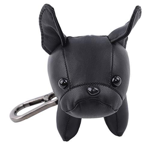 Yinew Keychain Niedlichen Cartoon Bulldog Form Keychain Welpen Anhänger Schlüsselanhänger Anhänger Frauen Halter Schlüsselanhänger Dekoration, Schwarz