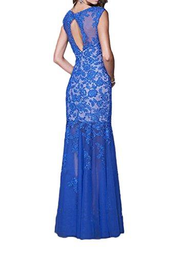 La_Marie Braut Orange Spitze U-ausschnitt Abendkleider Brautmutterkleider Abendkleider Lang Trumept Rock Orange