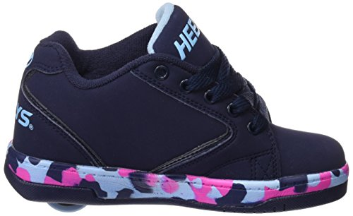 Heelys Propel 2.0, Chaussures de Tennis Fille Bleu (Navy / Pink / Light Blue / Confetti)