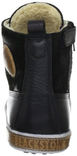 Blackstone ANTON FUR CK06 Unisex-Kinder Sneaker Schwarz (Black)