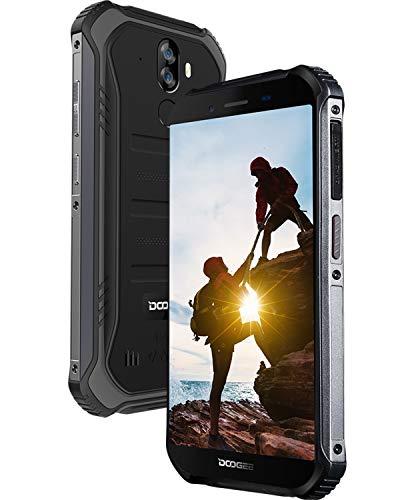 DOOGEE S40 LITE Outdoor Smartphone Ohne Vertrag, Android 9.0 IP68 Robustes Handy Dual SIM 3G, Stoßfest Wasserdicht, 4650mAh, 5,5 Zoll Gorilla Glass 4, 2GB + 16GB, 8MP+5MP Dual Kamera, Black+Film