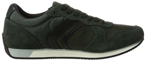 Geox U Vinto C, Sneakers Basses Homme Vert (Dk Forest/black)