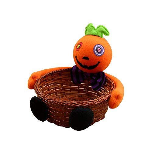 Demarkt Halloween Süßigkeit Korb Geschenk Beutel mit Puppen Halloween Dekoration Orange