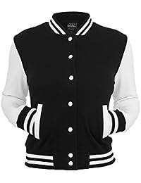 Urban Classics TB218 Damen Jacke Ladies 2-tone College Sweatjacket