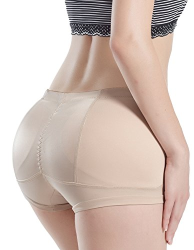Kimikal Damen's Butt Lifter Hip Enhancer Shapewear Gepolsterte Höschen (Medium, Beige) (Butt Lifter Und Hip Enhancer)