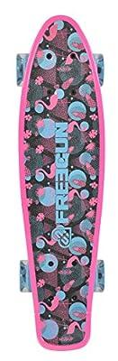 Freegun Miss 22, 5mit Leuchtrollen Skateboard Mädchen, rosa