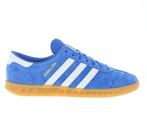 adidas Herren Hamburg Laufschuhe Mehrfarbig (Bluebird/ftwr White/gum 2)