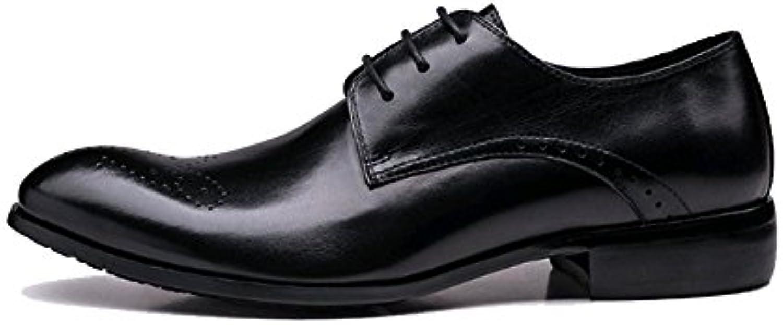 NIUMJ Herren British Business Casual Lace Outdoor Fahr Schuhe
