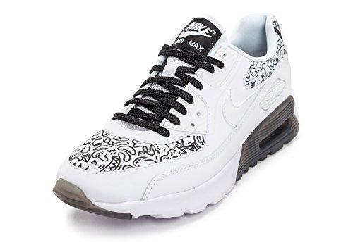 Nike W Air Max 90 Ultra Print, Chaussures de Sport Femme Blanc Cassé - Blanco (White / White-Black)