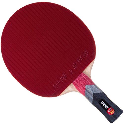Atemi Pro Line 1000 Allround Tischtennisschläger Ping Pong Top Qualität - ITTF zugelassen - Ideal für Anfänger und Fortgeschrittene (Anatomisch)