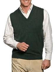 Wool Overs Pull sans manches homme en laine d'agneau