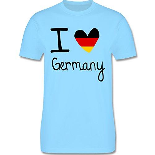 EM 2016 - Frankreich - I love Germany - Herren Premium T-Shirt Hellblau
