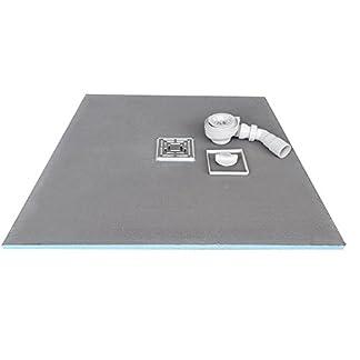Plato de ducha (80x 80x 4cm listo para alicatar con sifón bandeja de ducha