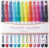 Pilot Frixion Colors Ausradierbare Marke - 12 Farbe setzte sich / Wertsatz, der den Radiergummi nur für Reibung befestigte, (Color Felt-tip pen)