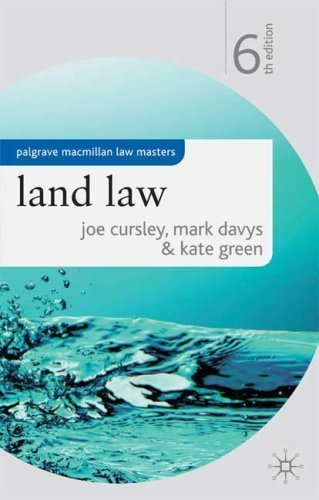 Land Law (Palgrave Macmillan Law Masters) by Joe Cursley (2009-03-26)