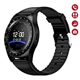 Montre Connectée, Carte SIM Smartwatch écran Tactile Rond,Carte TF Bluetooth...