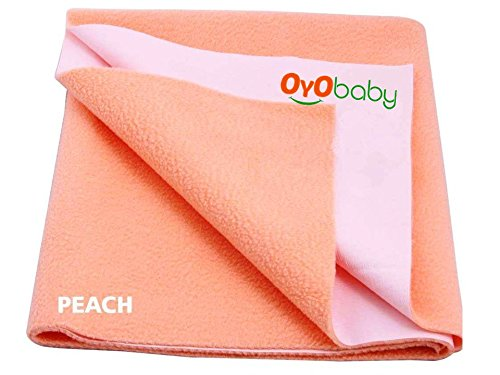 OYO BABY - Quickly Dry Super Soft, Waterproof, Reusable Mat / Underpad / Absorbent Sheets / Mattress Protector (Size: 70cm X 50cm) / (28 inch X 19 inch) Orange,S  available at amazon for Rs.153