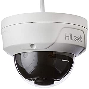 HiLook by Hikvision IPC-D121H-M 2MP 1080p Dome PoE Network Camera with 30m Night Vision IP67 Waterproof Power over Ethernet PoE -White (4mm lens)