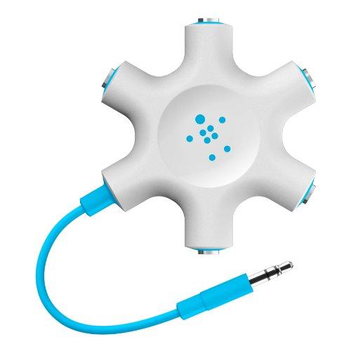 Belkin MixIt Colour Range Rockstar Multi 5-Way Splitter for Headphone